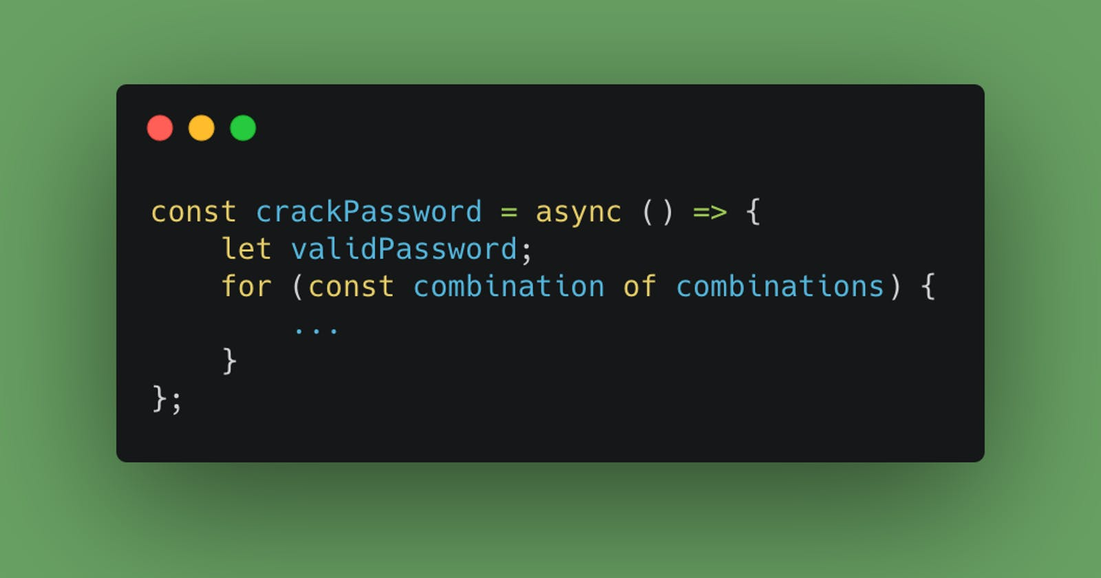 Importance of long, strong and secure passwords. Unlocking zip password with Node.js (basic example).