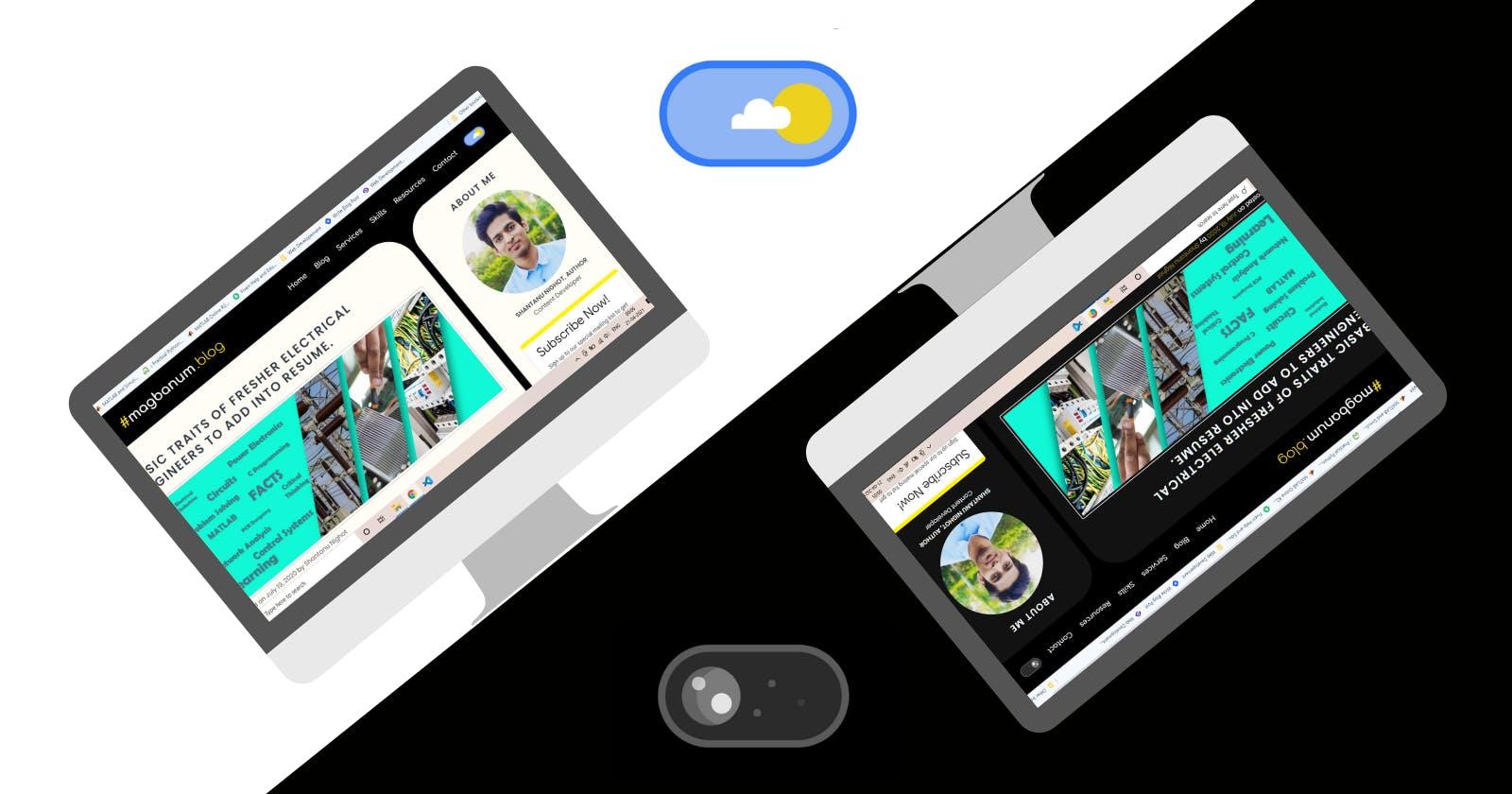 Dark/Light theme switcher for your Website.