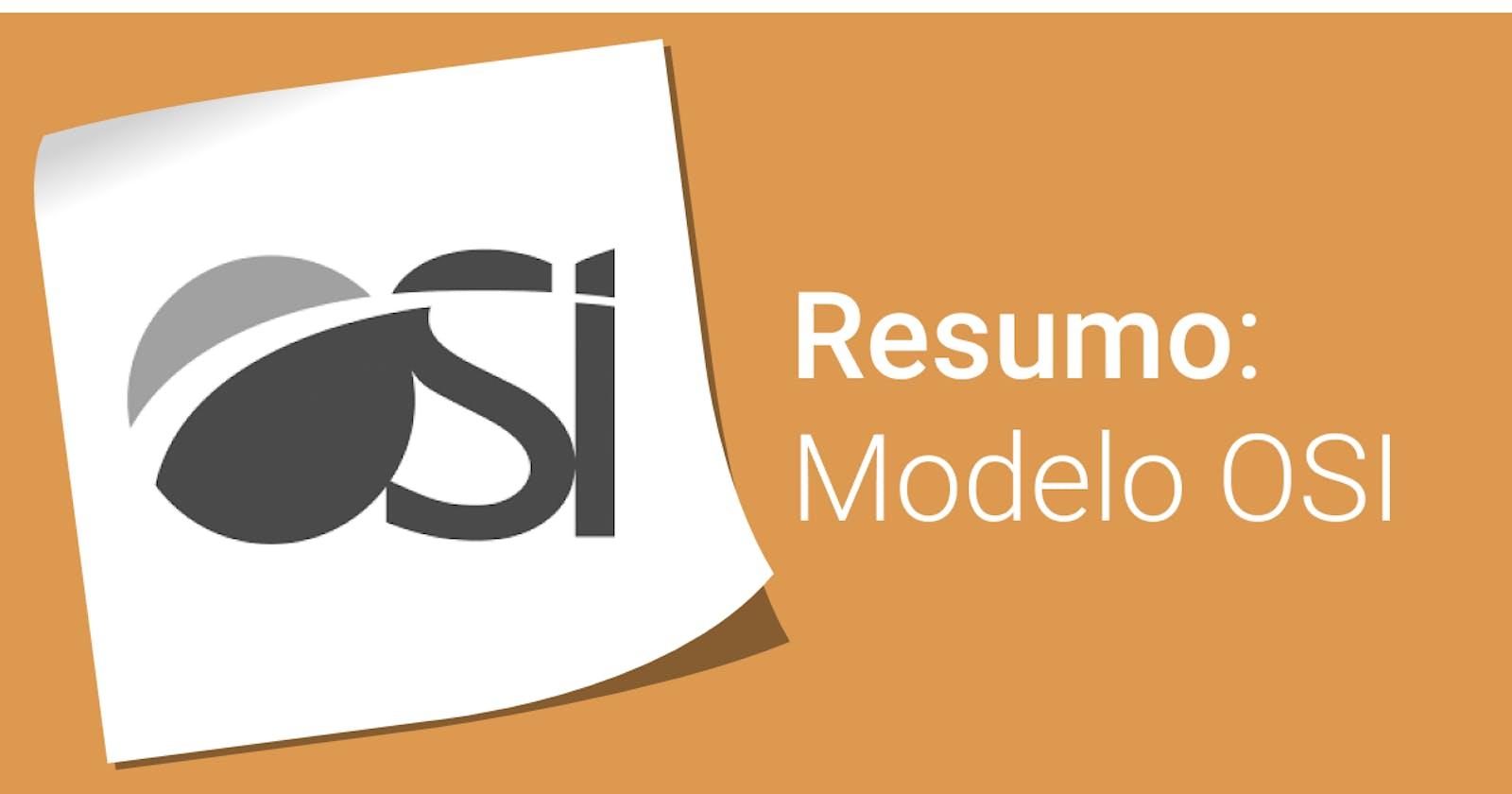 Resumo: Modelo OSI