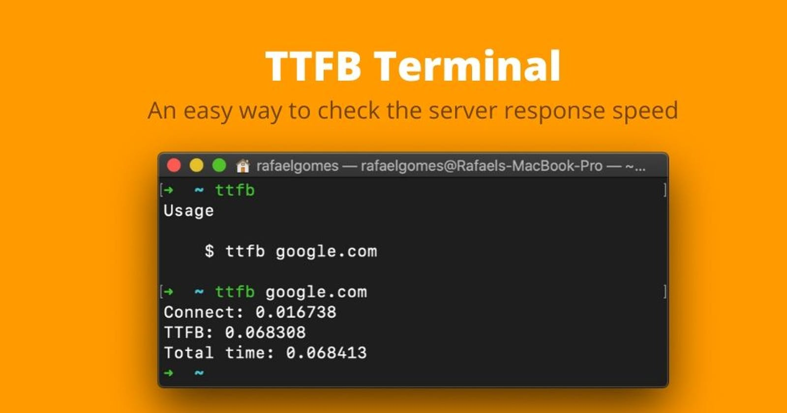 Check quickly the TTFB via terminal