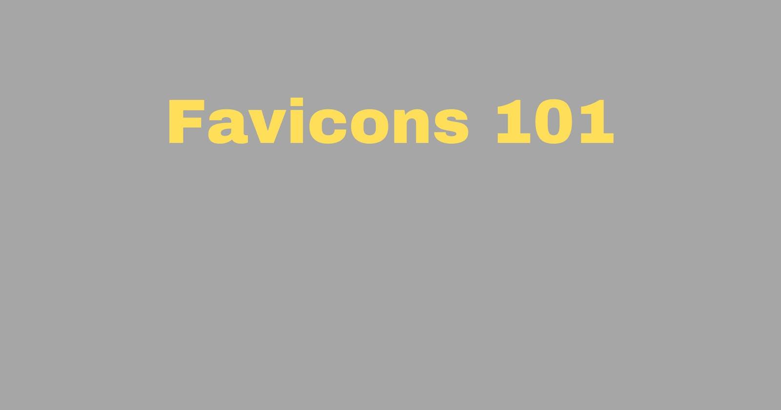 Creating a Favicon 101