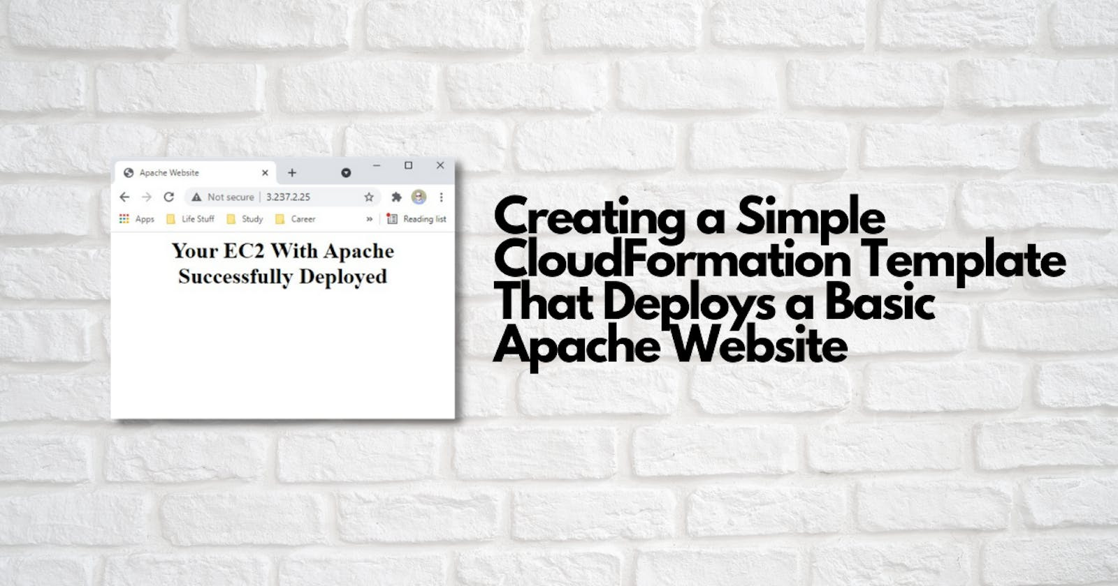 Creating a Simple CloudFormation Template That Deploys a Basic Apache Website