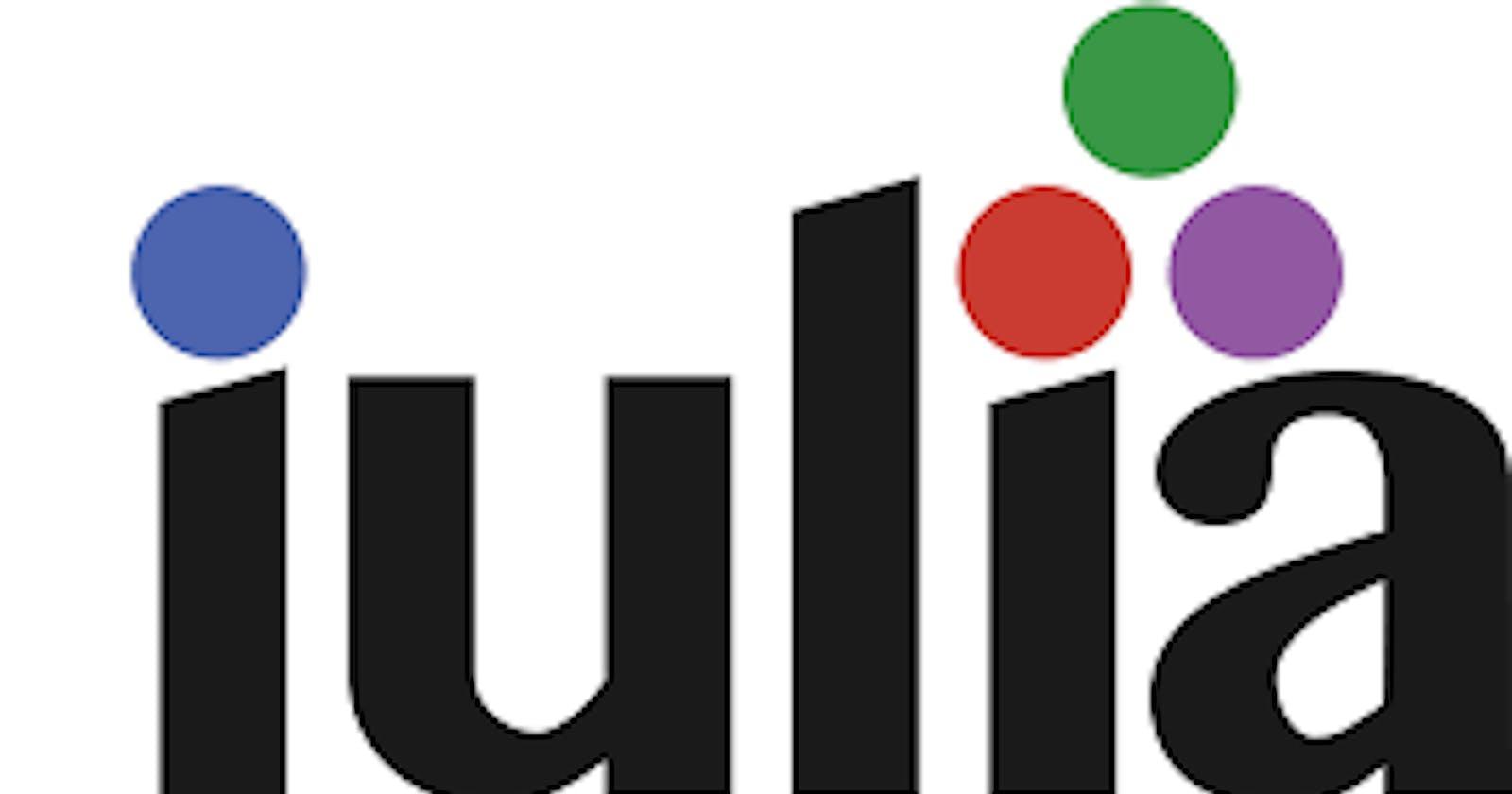 The Julia programming language.