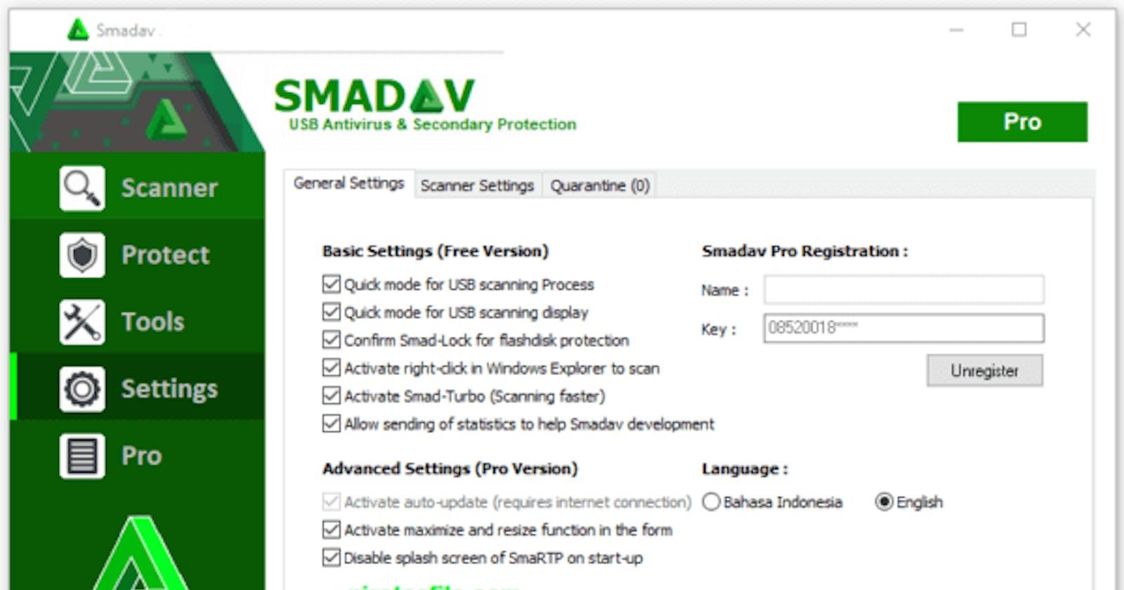 SmadAV Pro 2021 Anti Virus with Free Lifetime Serial Key