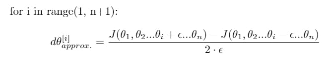 Calculate approx gradients