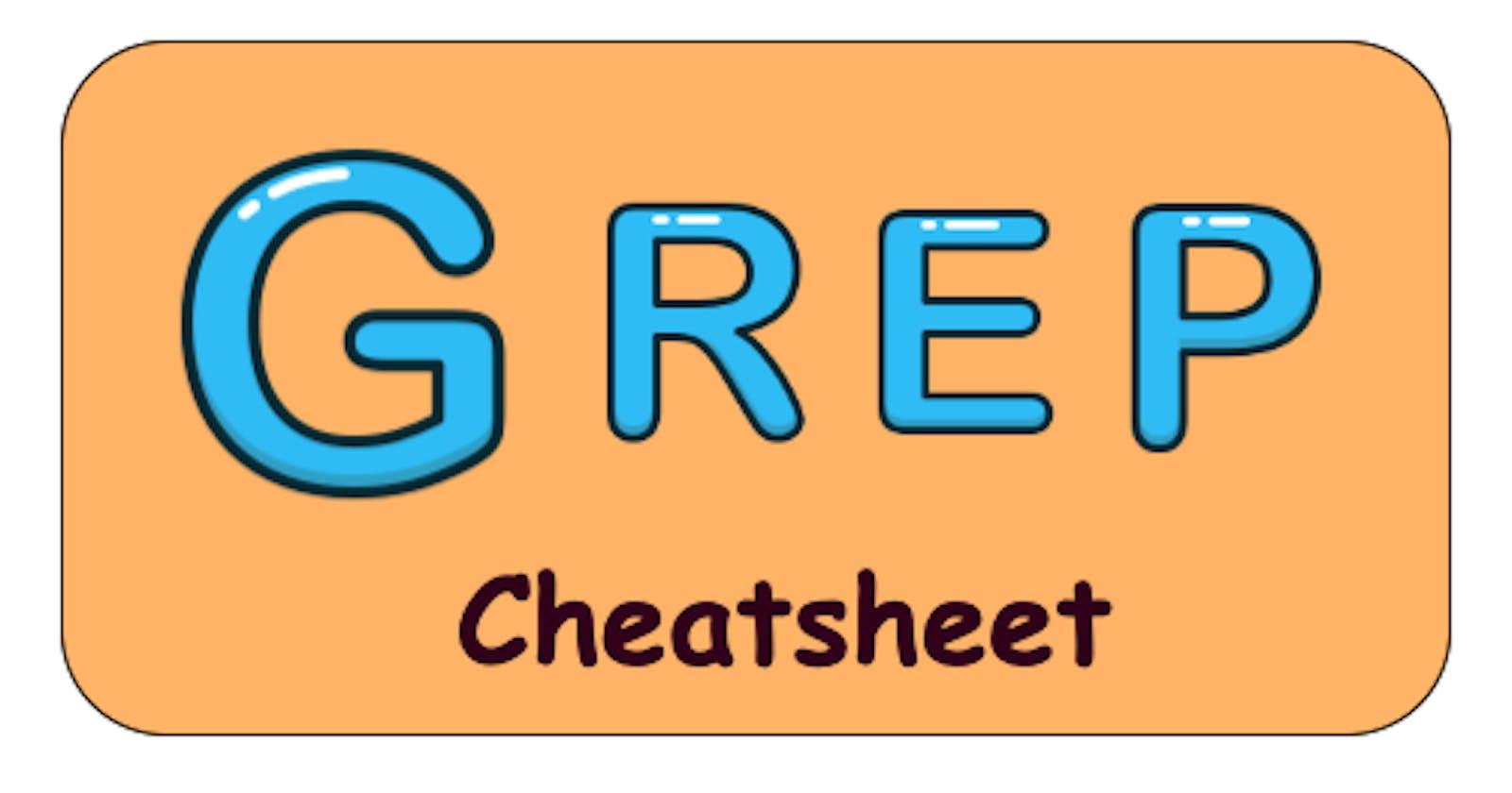 Grep cheatsheet
