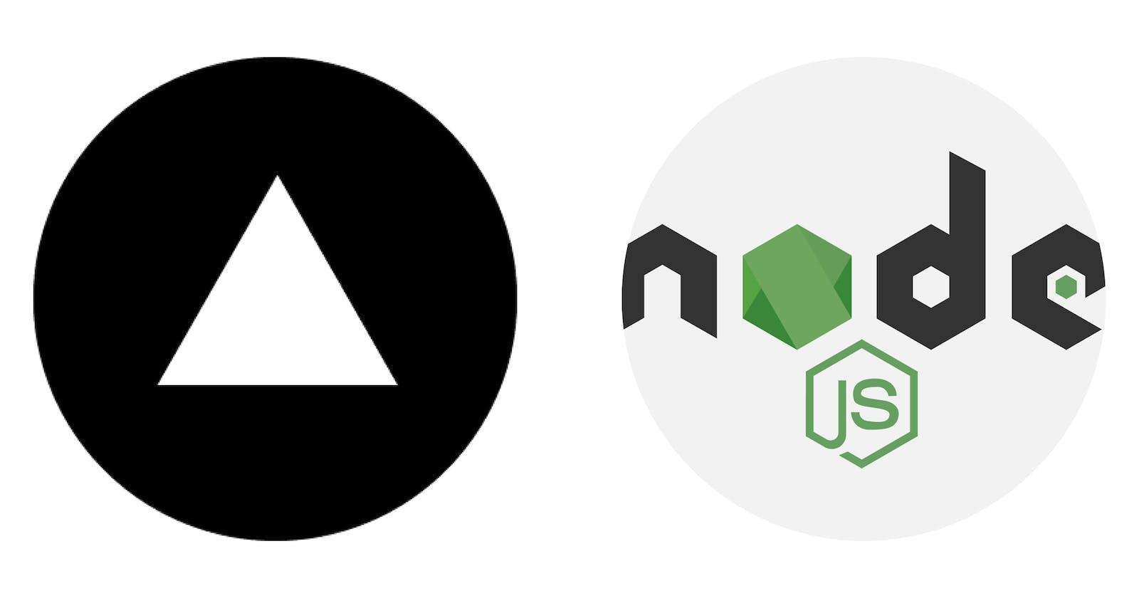 Deploy a node server to Vercel!