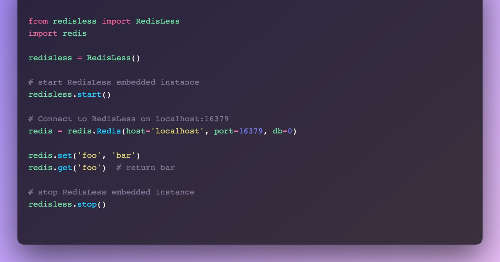 RedisLess - Blazingly fast Serverless Redis