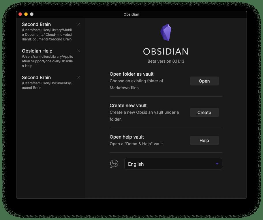 Obsidian window