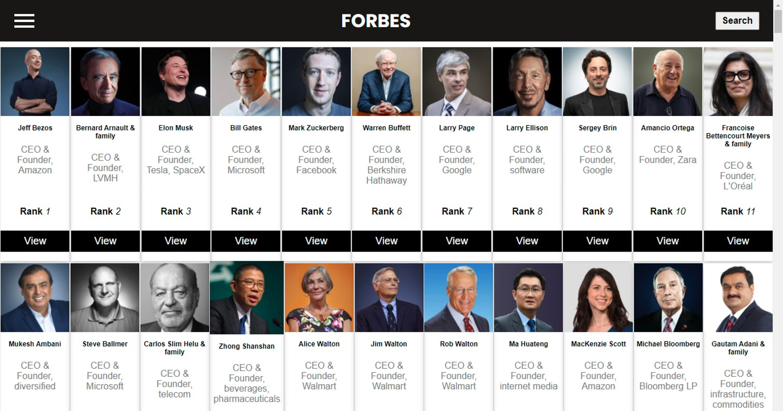 Walking you through how I build my Forbes  website project
