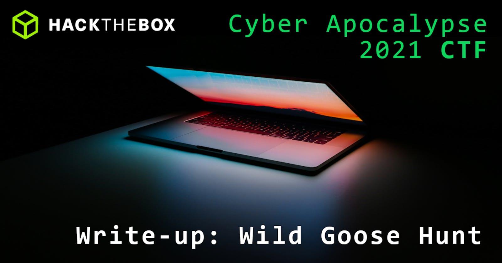 Cyber Apocalypse 2021: Wild Goose Hunt