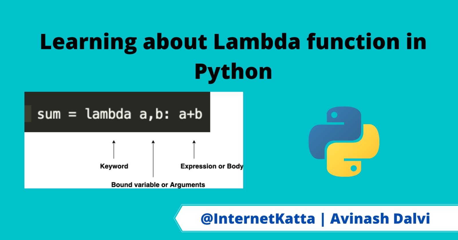 Learning about Lambda function in Python