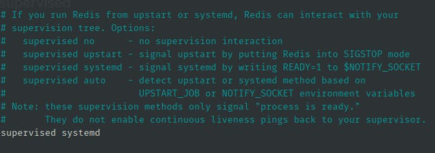 changing the supervised directive to systemd