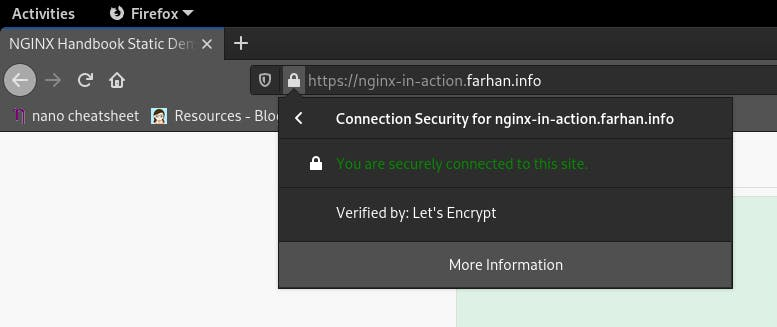 Verified by: Let's Encrypt