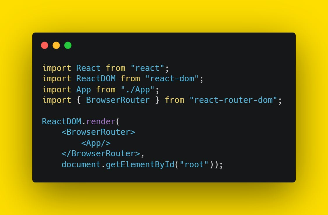 Wrap app in Browser Router