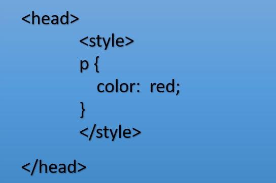 Internal CSS