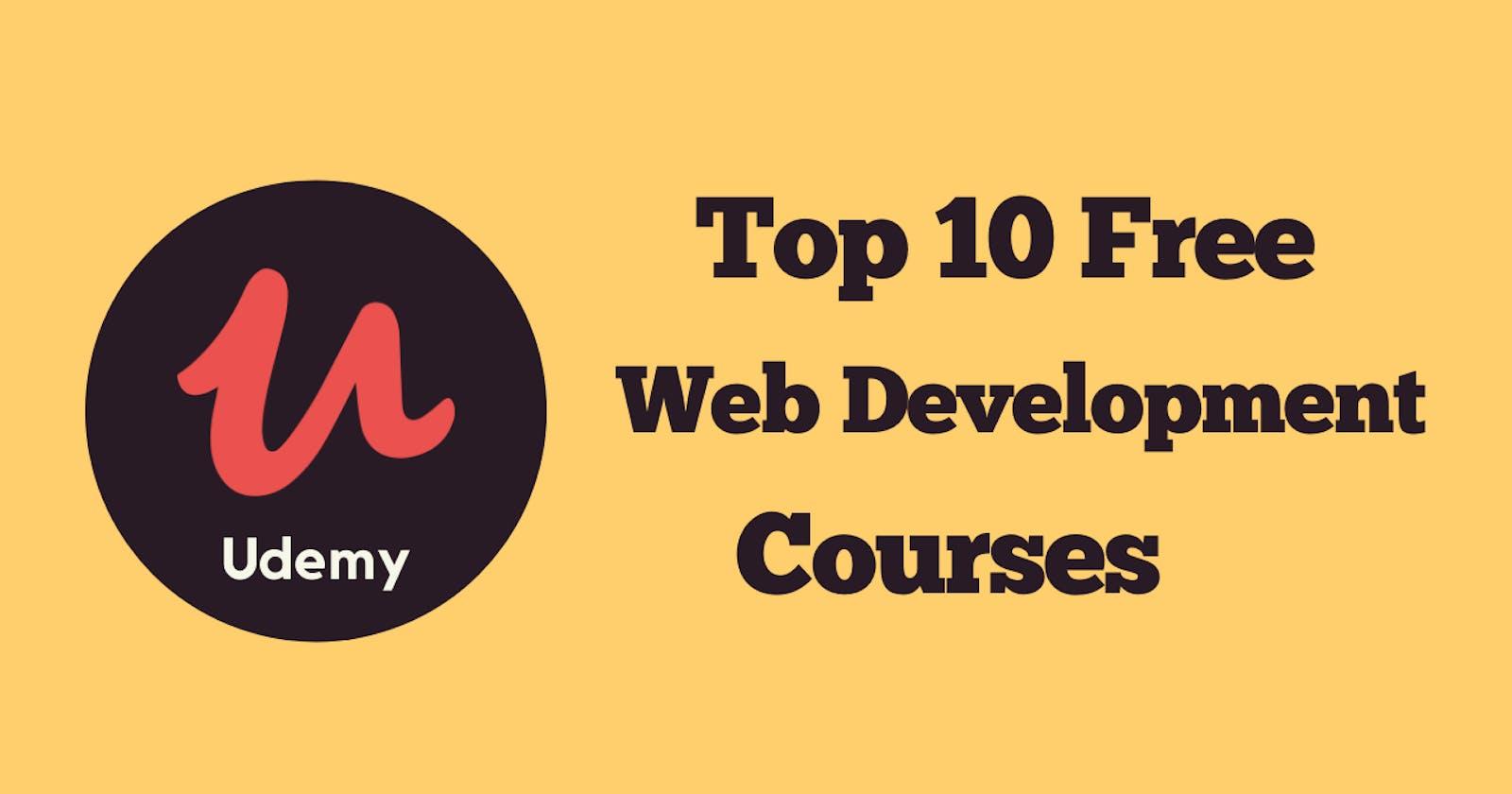 Top 10 Free Udemy Web Development Courses