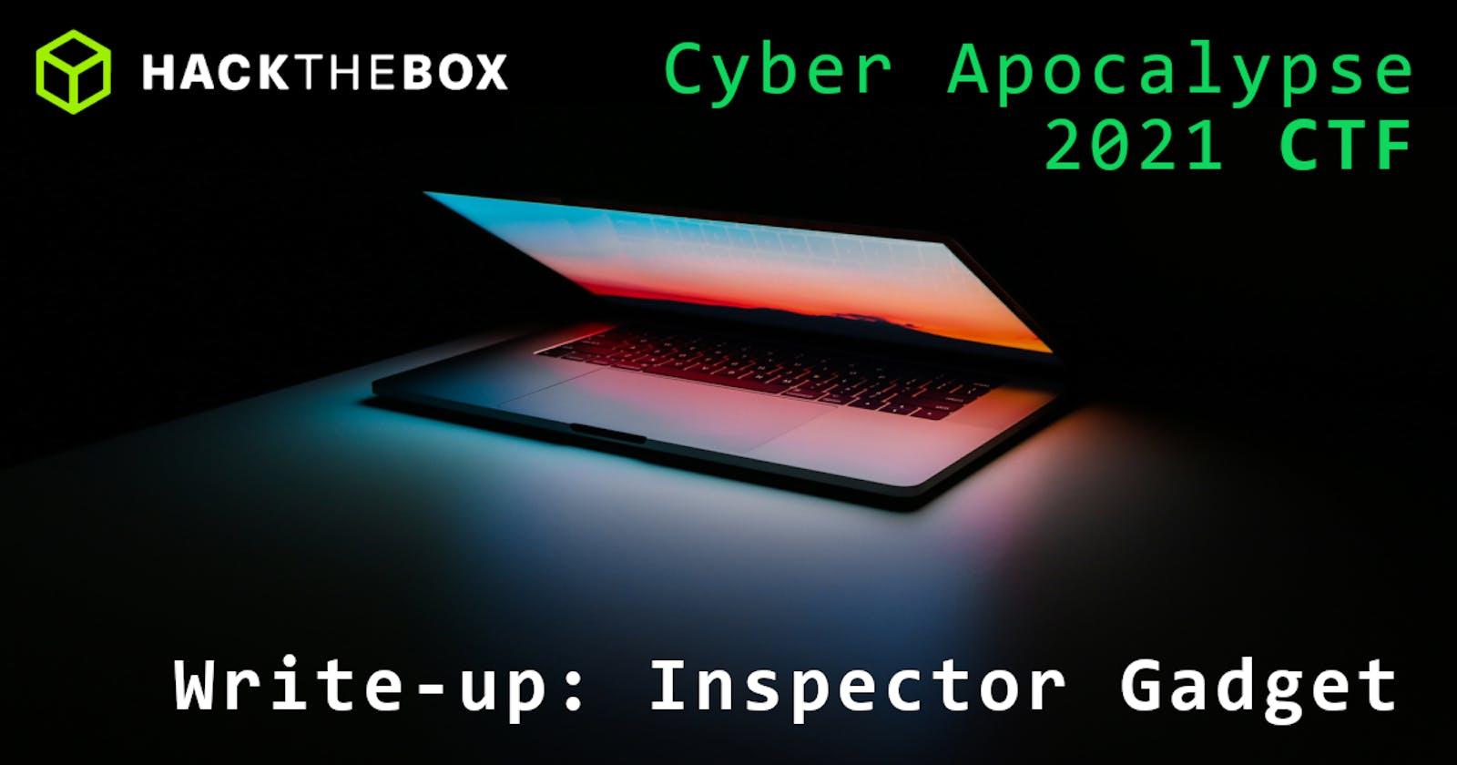 Cyber Apocalypse 2021: Inspector Gadget