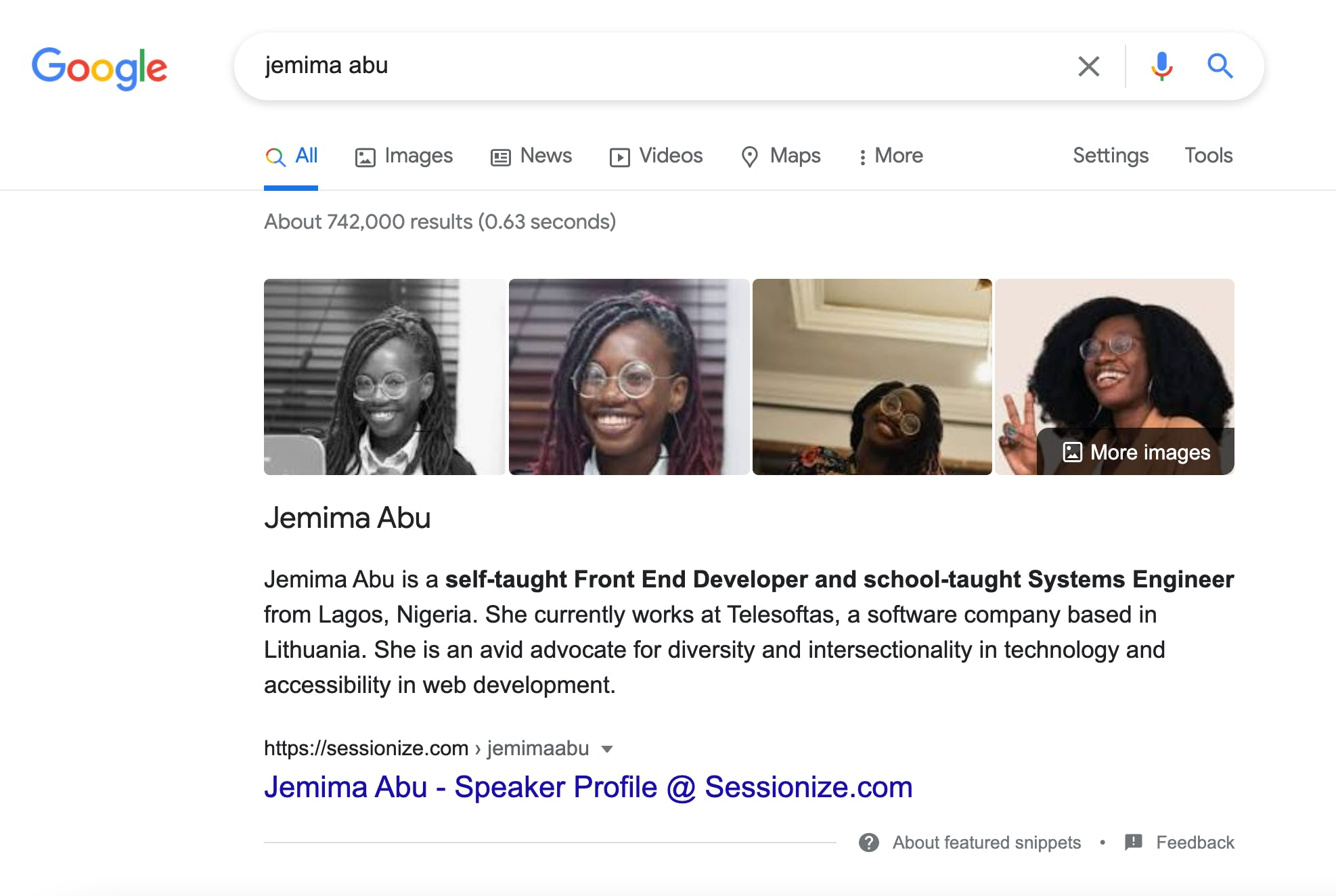 Search results for jemima abu on google