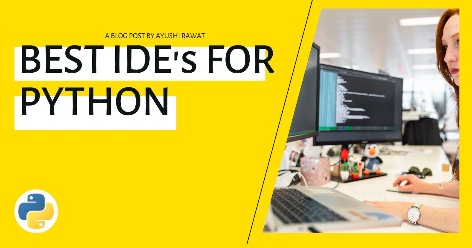 Best IDE's for Python