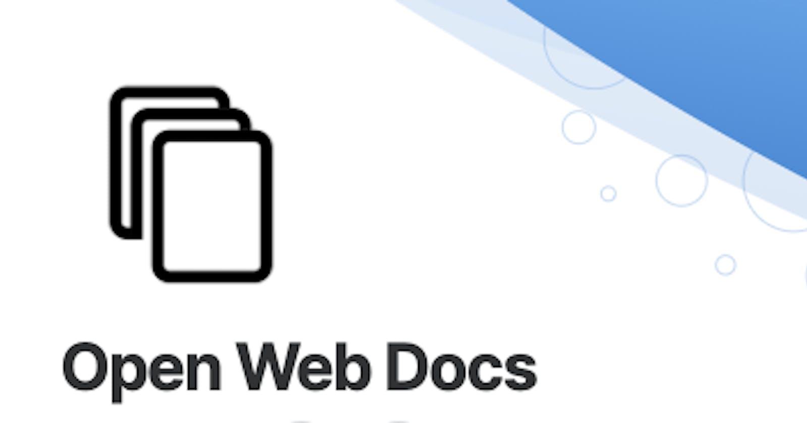 Introducing: Open Web Docs!