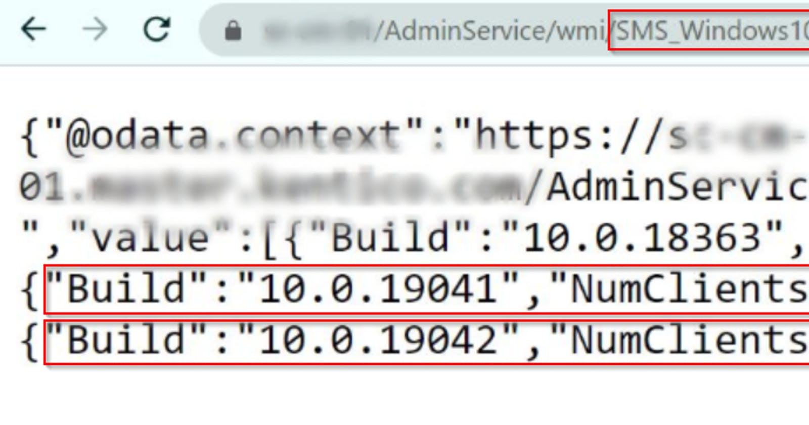 Getting information from SCCM Administration Service API