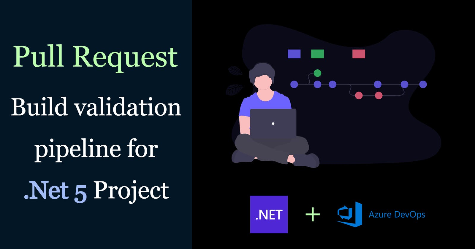 Azure DevOps Pull Request build validation pipeline for .Net 5 project