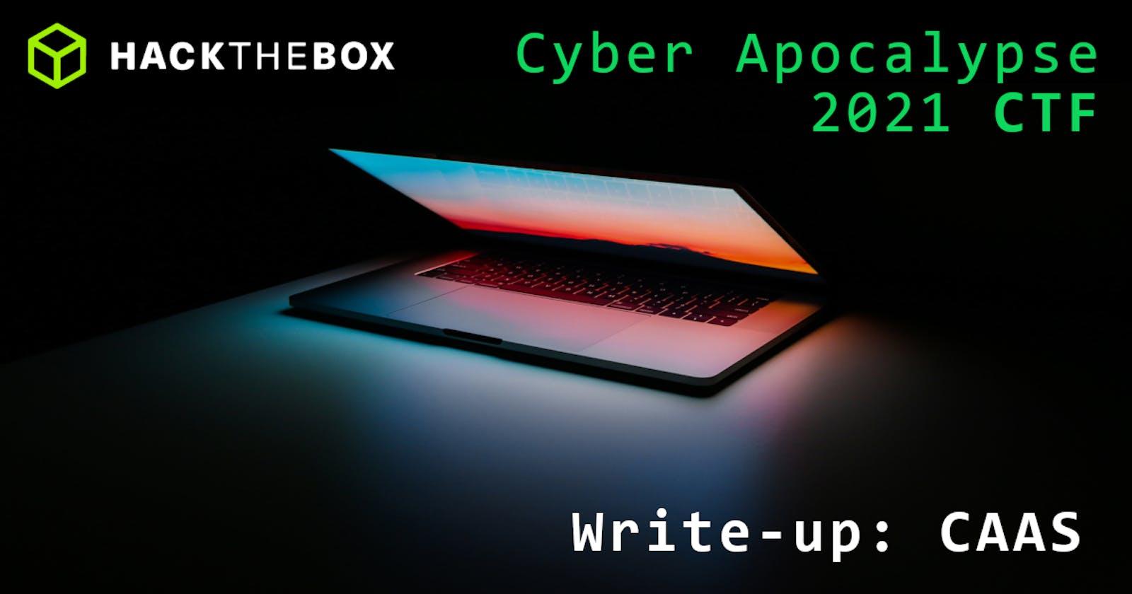 Cyber Apocalypse 2021: CAAS