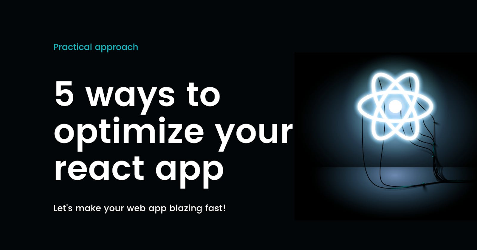 5 sure shot ways to optimize your react app's performance following the best practices.