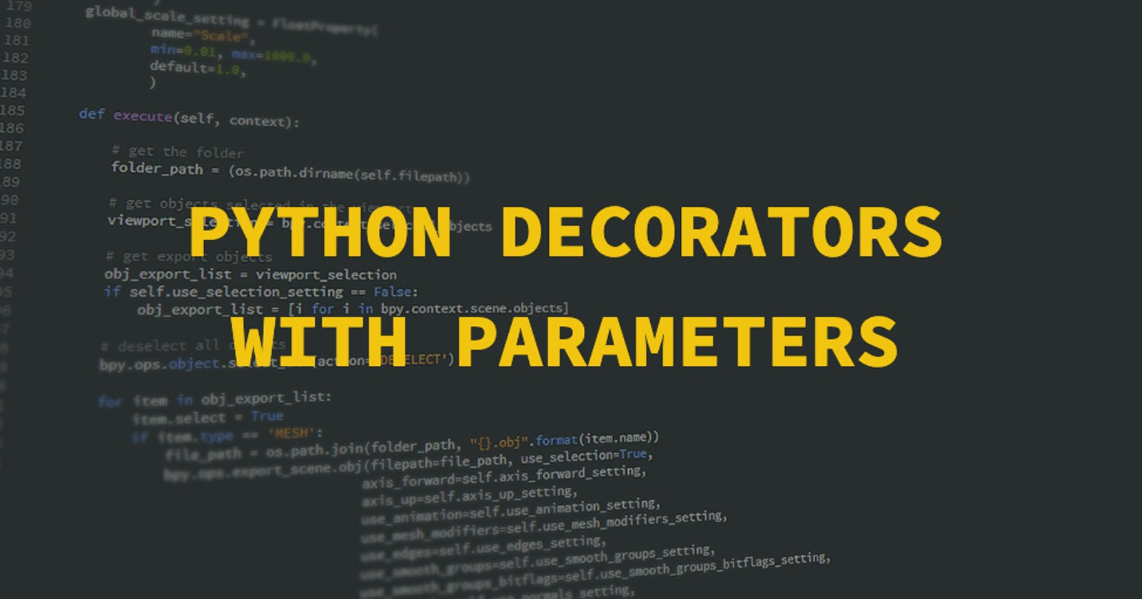 Python decorators with parameters