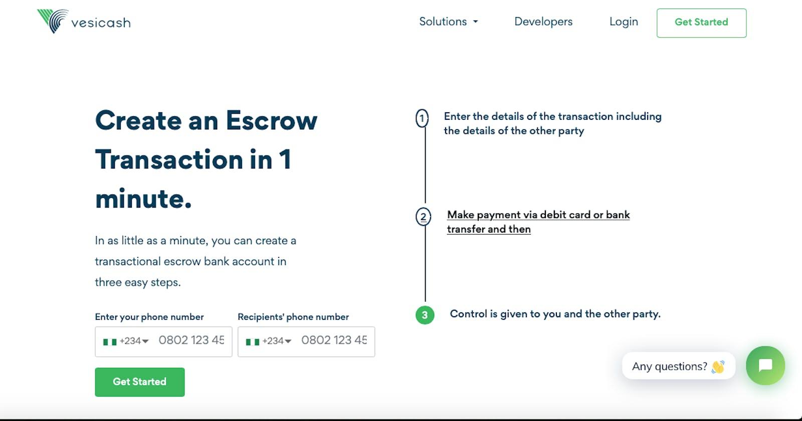 Securing P2P Transactions Using Vesicash Instant Escrow.