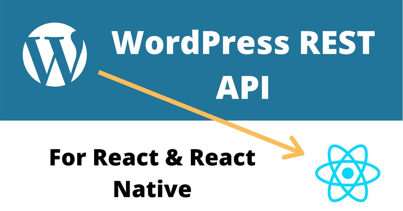 WordPress API for React App to Get Post