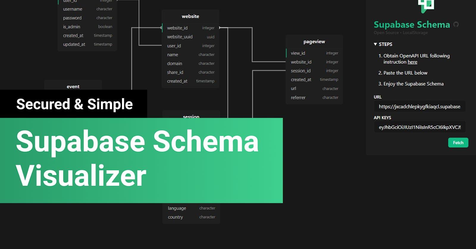 Supabase Schema Visualizer - No installation/login