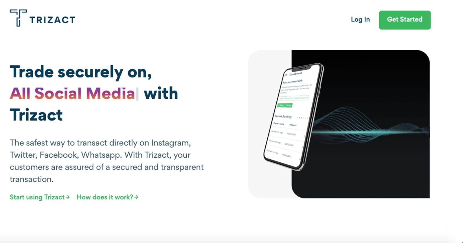 Vesicash Trizact: Bringing Trust and Transparency to Social Commerce.
