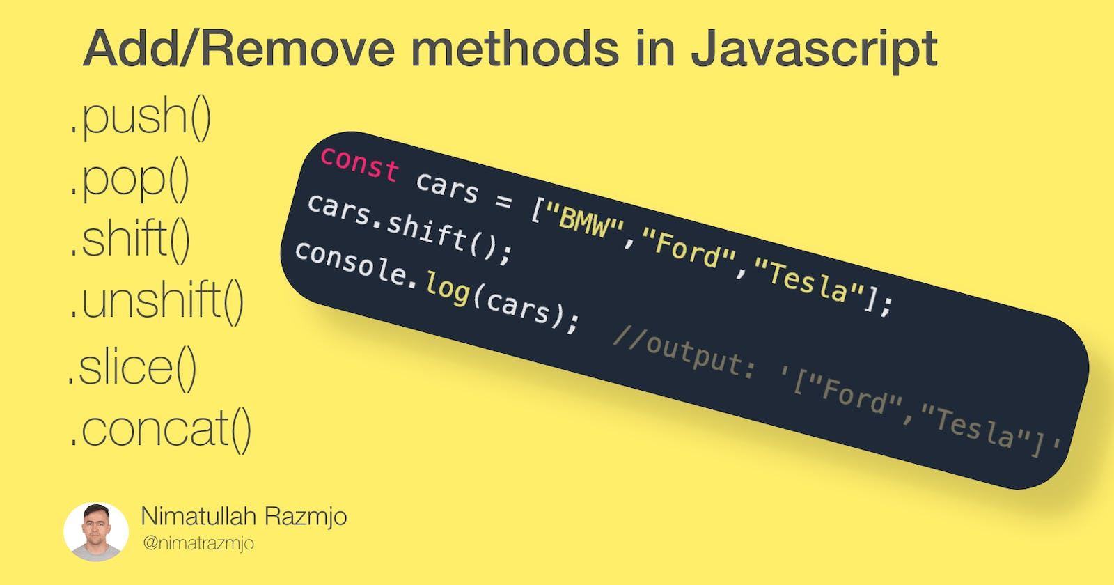 Add/Remove item to/from Array  in Javascript