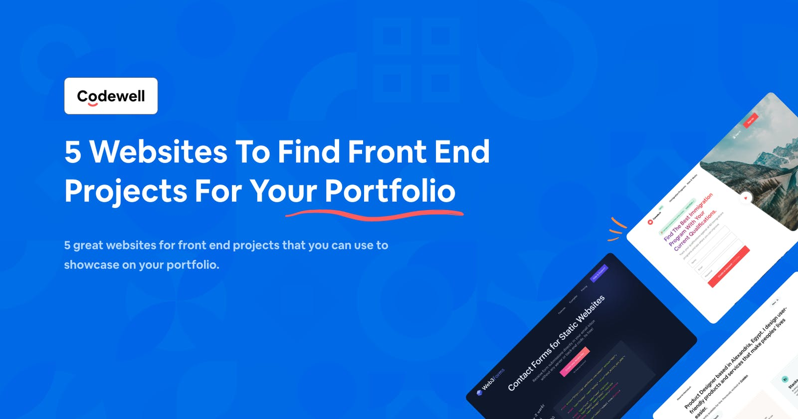 5 Websites To Find Front End Projects For Your Portfolio