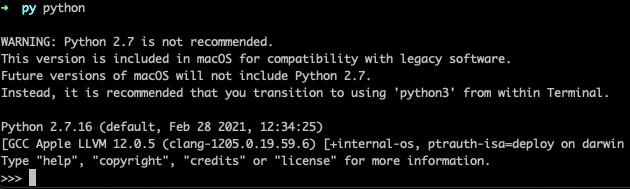 Mac default Python installation