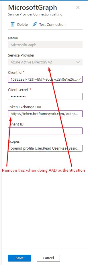 Azure Active Directory (AAD) authentication v2