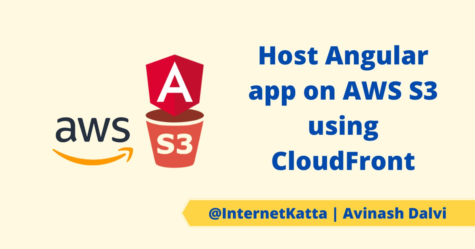 Host Angular 2 or 4 or 5 version on AWS S3 using CloudFront