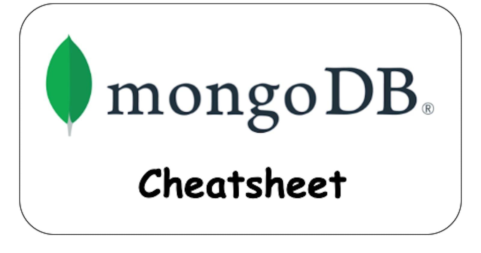 MongoDB cheatsheet