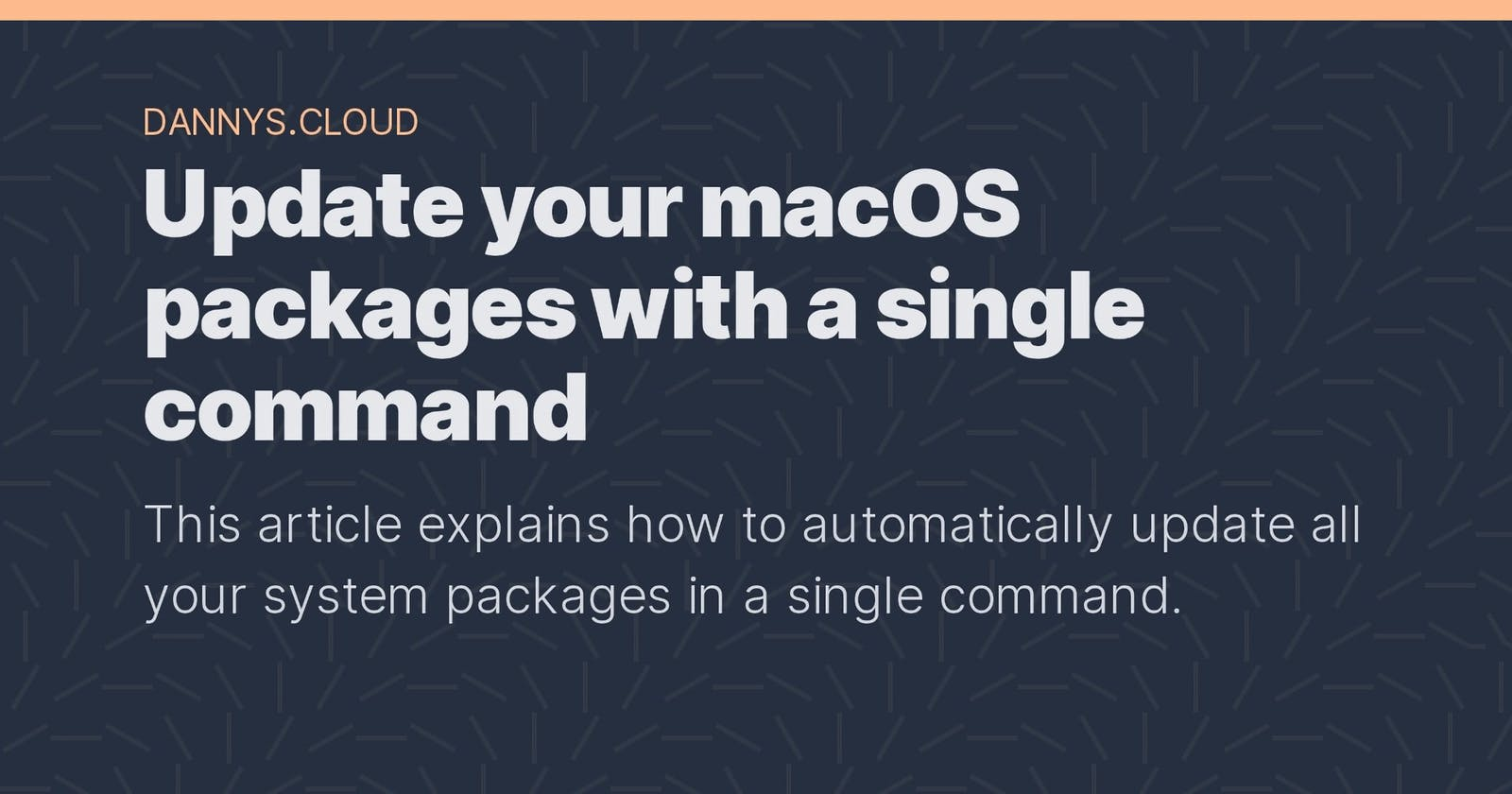 Update your macOS packages with a single command