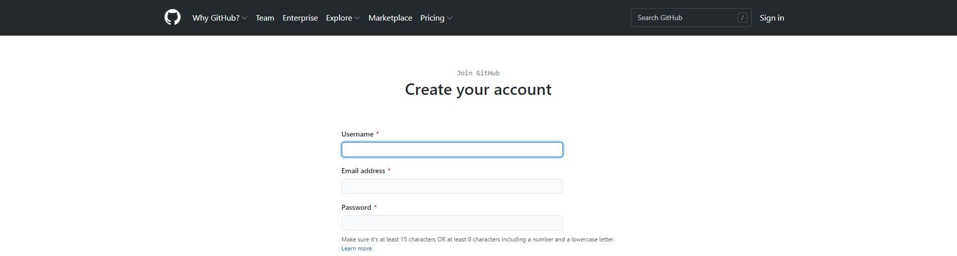 Creating a GitHub Account