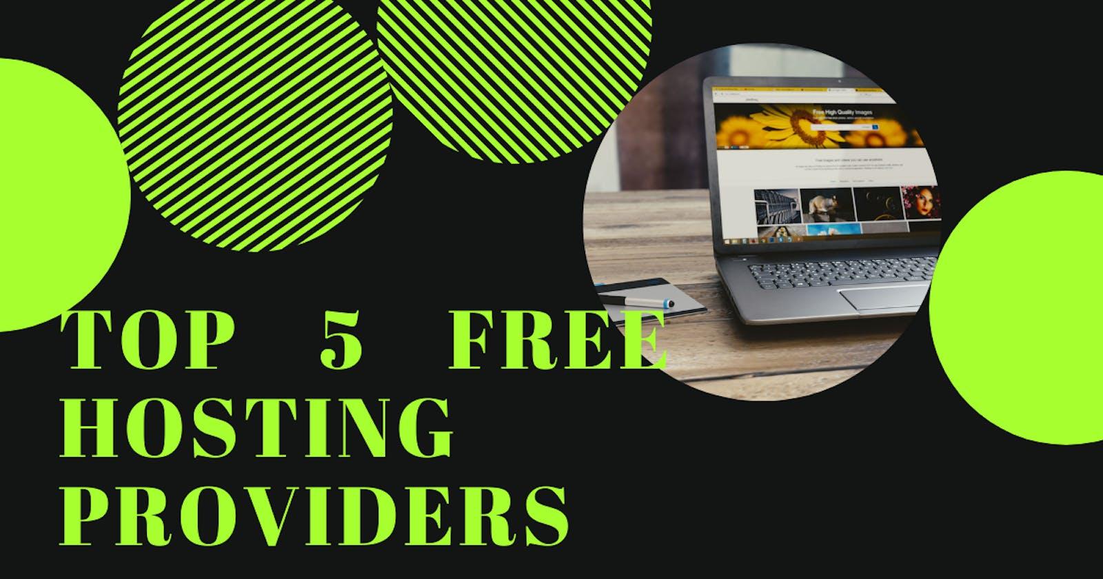 Top 5 free website hosting providers