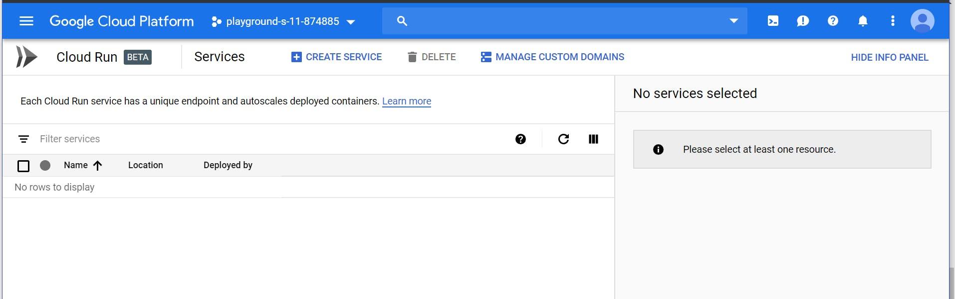 Create Service Page