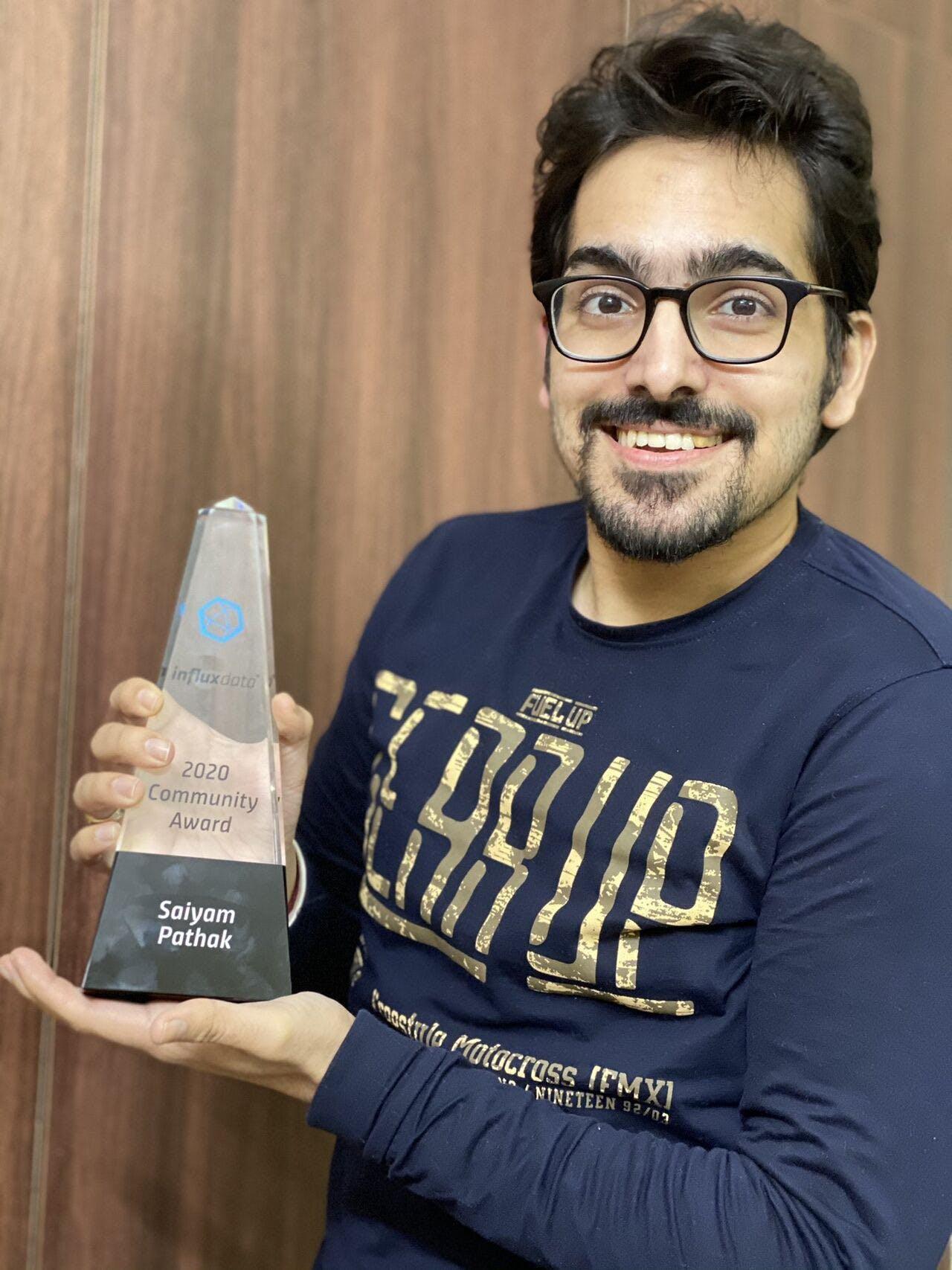 Docker and Influx Community Leader Award