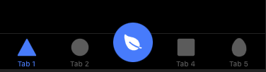 Ionic tab bar circle middle button