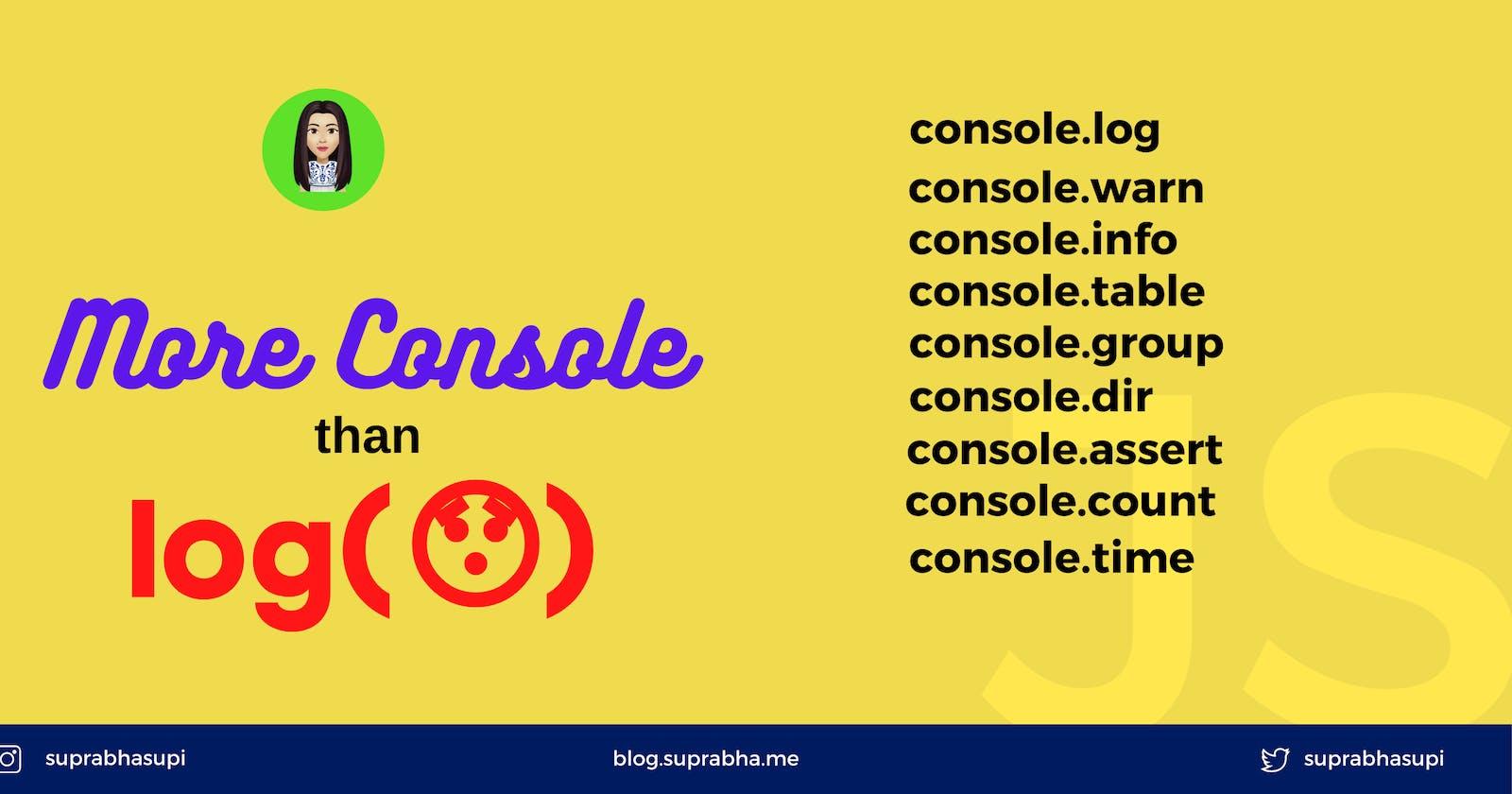 Use Javascript console like pro