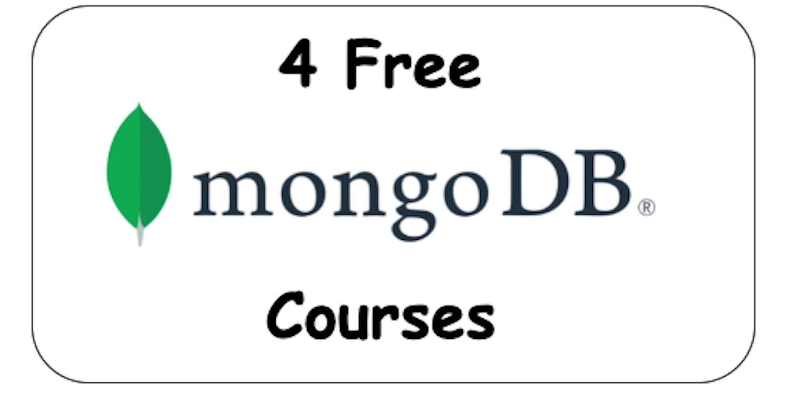 4 Free MongoDB Courses