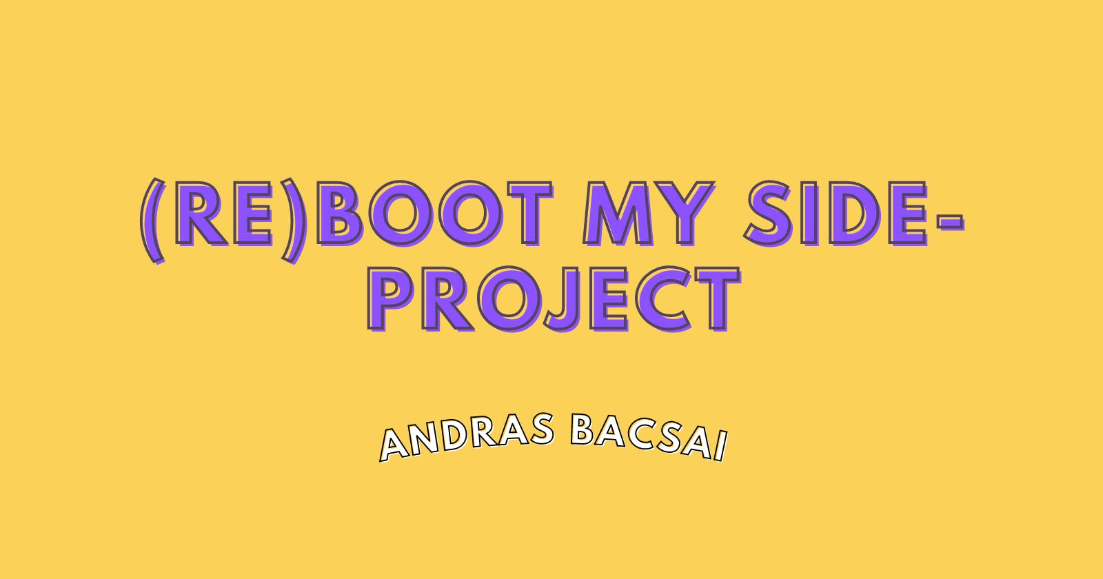 (re)Boot my side-project