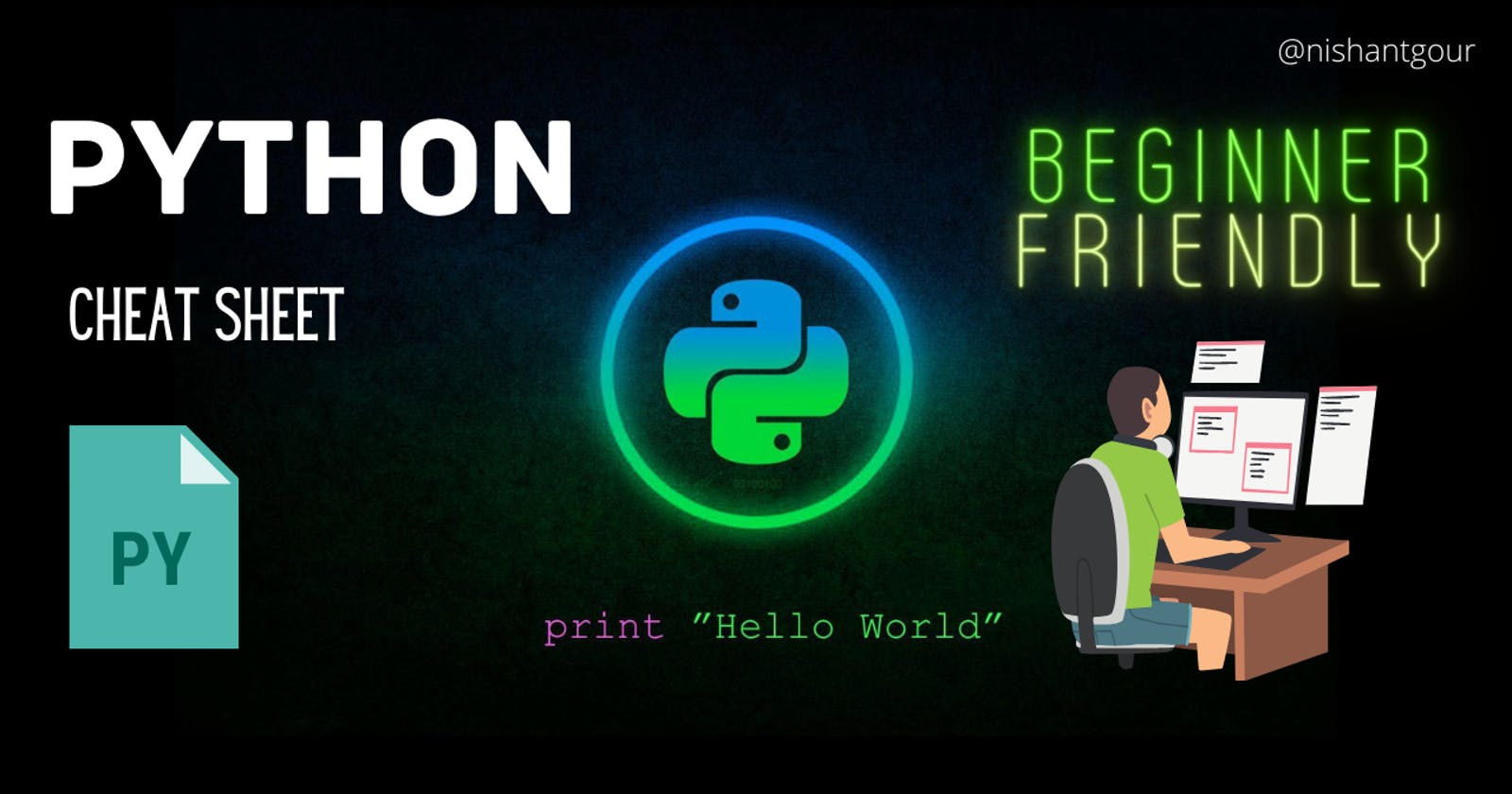 Python Cheat Sheet! For beginners